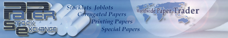 PPSE - Paper Stock Exchange: paper stocklots of corrugated papers, printing papers and special papers