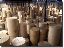 Corrugated-, printing- and special papers in our Warehouse in Antwerp, Belgium